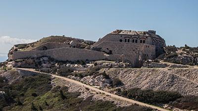 La batterie haute du Fort de Niolon