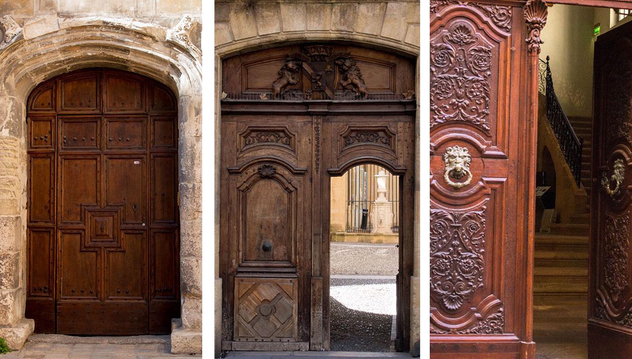 photos de portes de cloîtreet d'hôtels particuliers - Aix en Provence