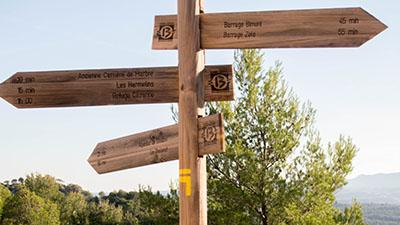 Signalisation pendant la randonnée