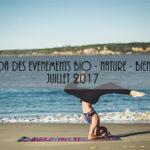 Agenda des événements bio & nature – juillet 2017