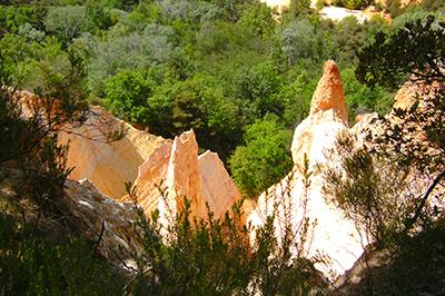 Le début du chemin du Colorado Provençal