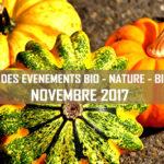 Agenda des événements bio & nature – novembre 2017