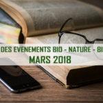 Agenda Aixois des événements bio & nature – mars 2018