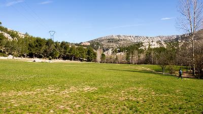 Espace vert - parking de l'Aurigon
