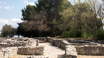 Les ruines de l'Oppidum d'Entremont