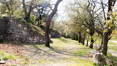 Oppidum d'Entremont : les remparts