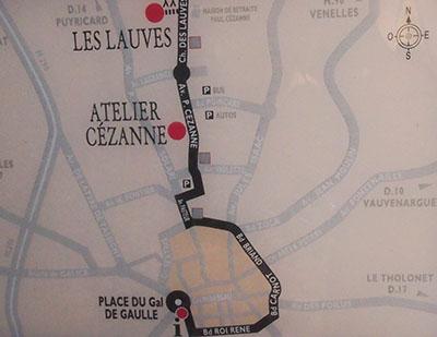 Itinéraire jusqu'au Terrain des peintres