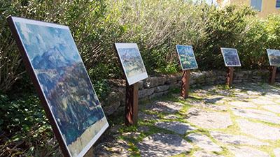 Peinture Cézanne sur le Terrain des peintres
