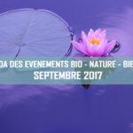 Agenda des événements bio & nature – septembre 2017