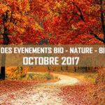 Agenda des événements bio & nature – octobre 2017