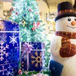 cadeaux, bonhomme de neige