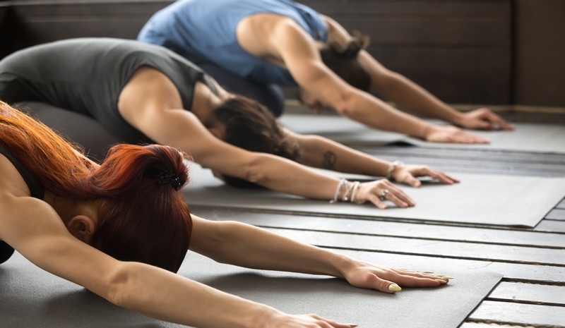 pratiquants de l'Ashtanga yoga à Aix