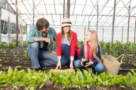 jardinage en famille ferme provençale